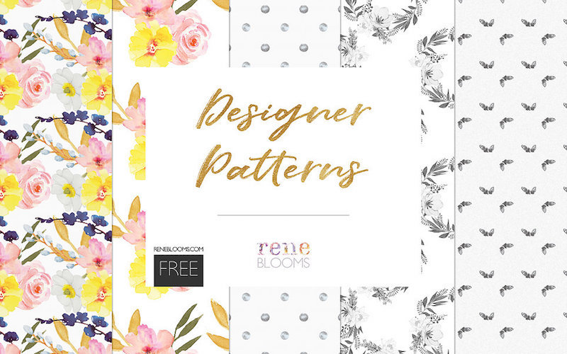 free watercolor floral patterns