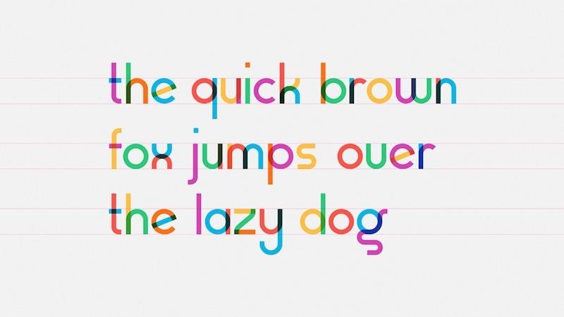 gilbert color font