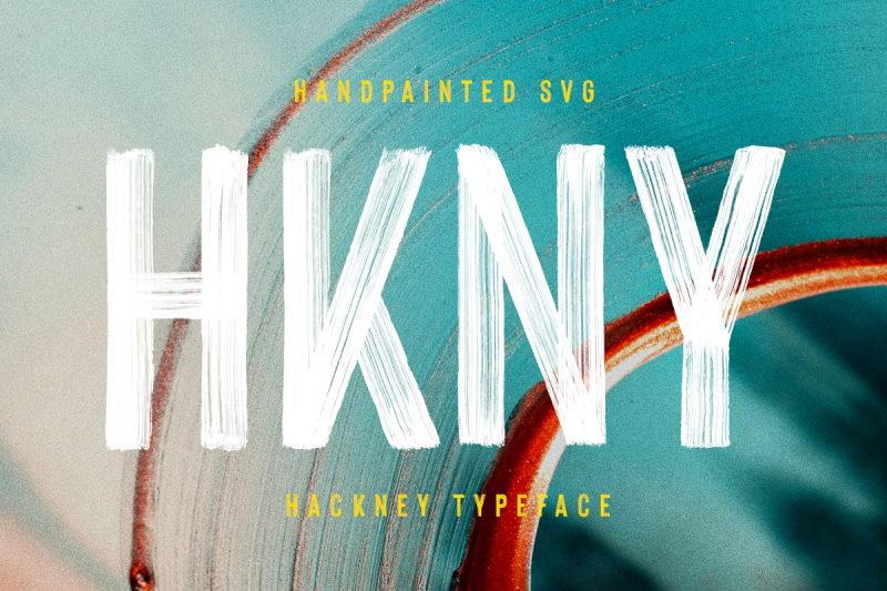 hackney svg bold handpainted font