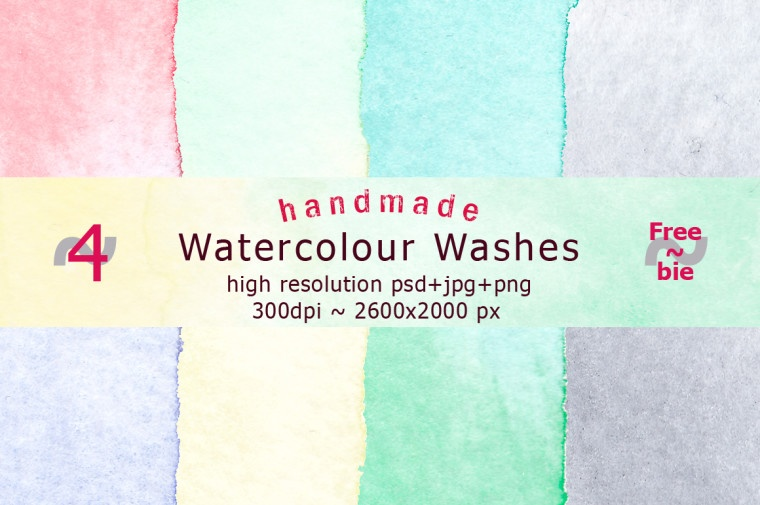 handmade watercolor washes