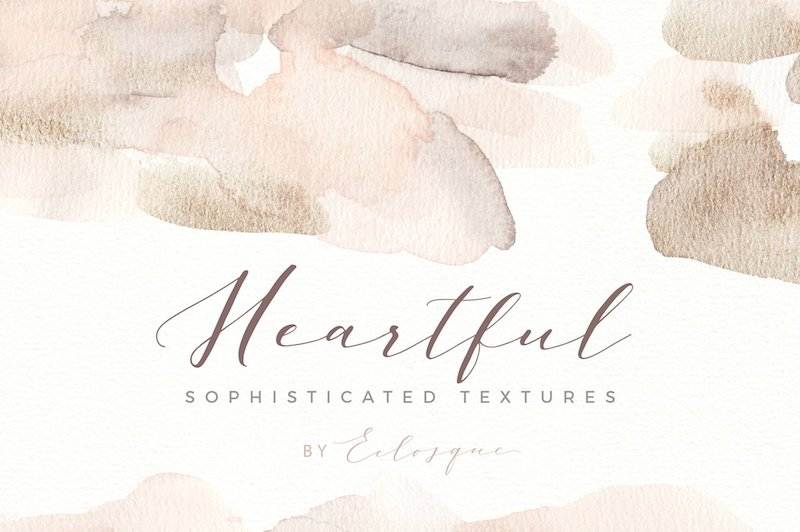 heartful watercolor textures