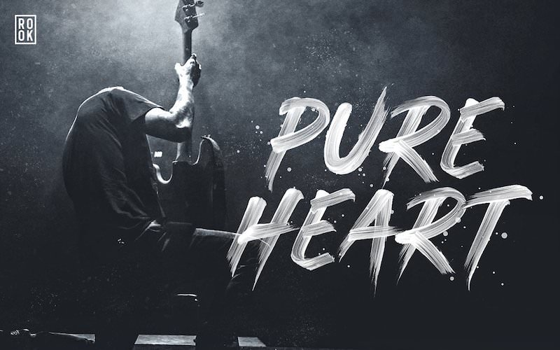 pureheart opentype svg brush font