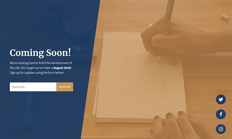 Coming Soon Bootstrap 4 Template