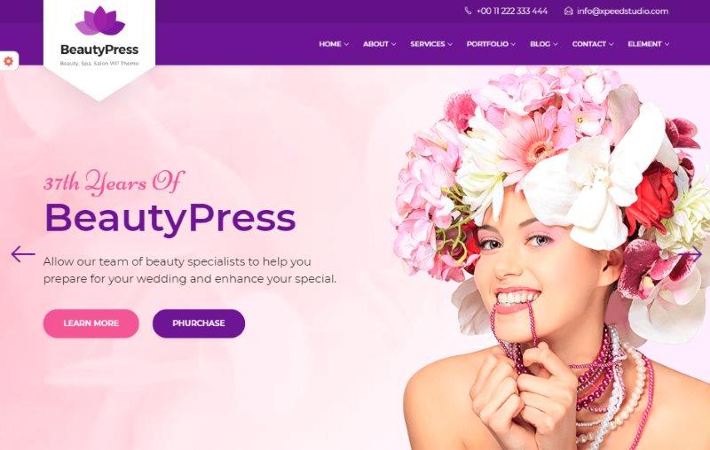 BeautyPress Beauty Spa Salon Wellness Html Template