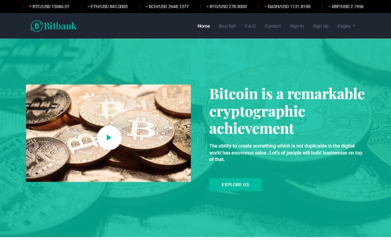 Bitbank Bitcoin Cryptocurrency Template