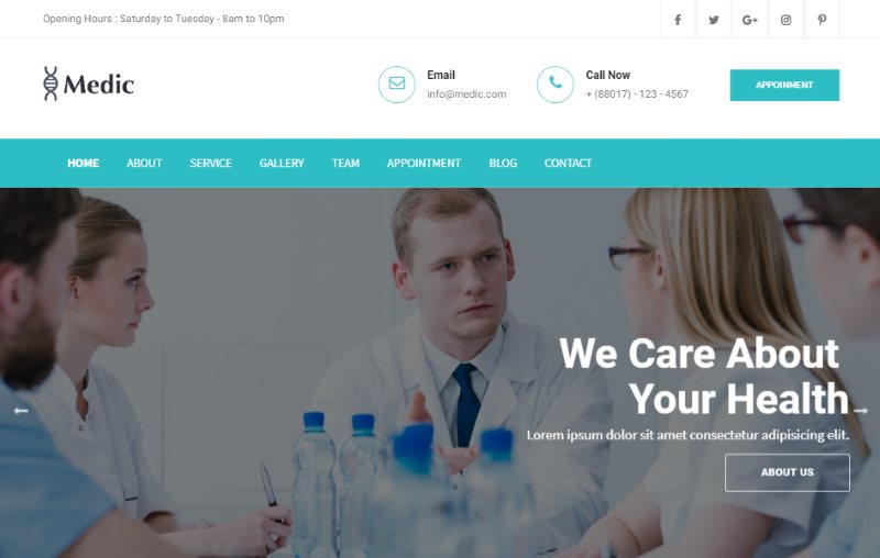 Medic Bootstrap Medical Template