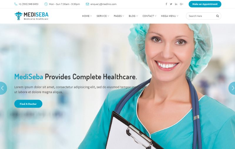 Mediseba Medical and Healthcare Template