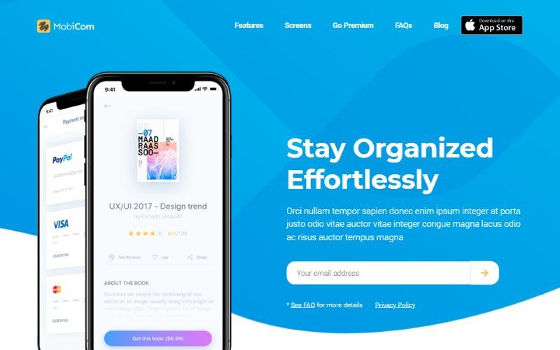 MobiCom Mobile App Landing Pages Pack