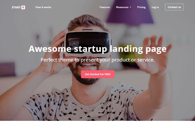 Startr Multipurpose Startup Landing Page