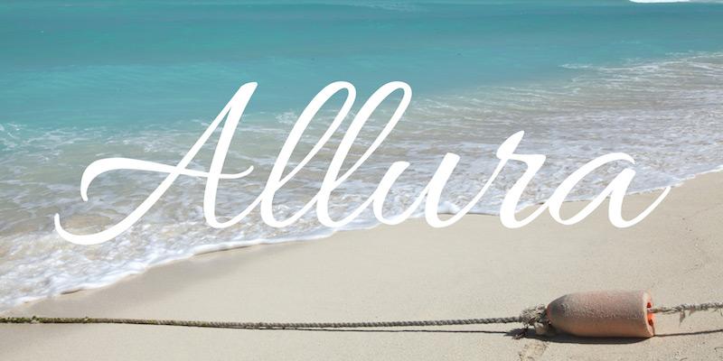 allura free font