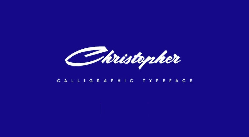 christopher free typeface