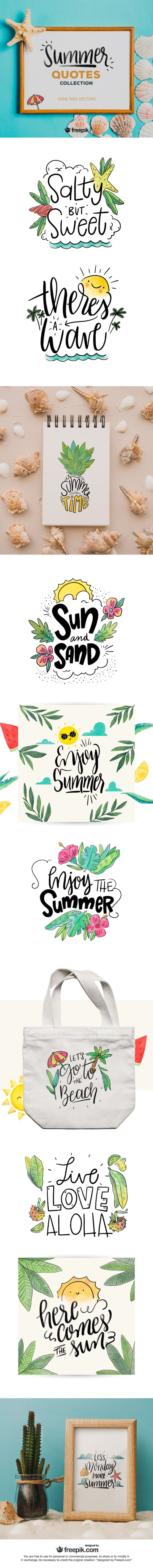 free summer quotes lettering