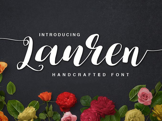 lauren handmade calligraphy font