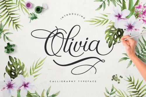 olivia calligraphy script font