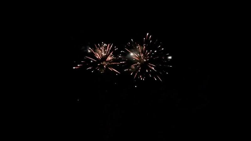 Video Footage Fireworks Sparkles Night