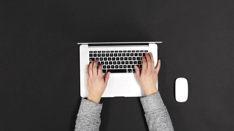 Laptop Keyboard Typing Video Footage