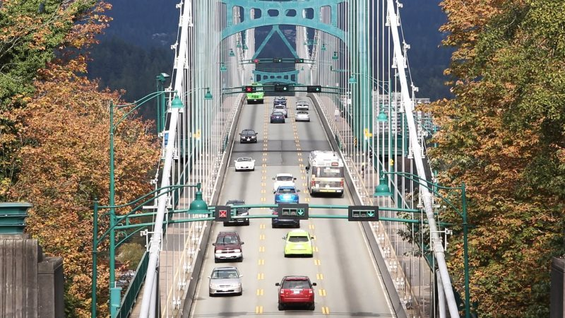 Suspension Bridge Traffic Street Video Footage