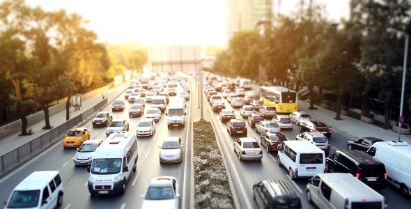 Stock Footage City Traffic