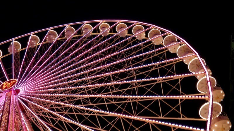 Ferris Wheel Night Video Footage