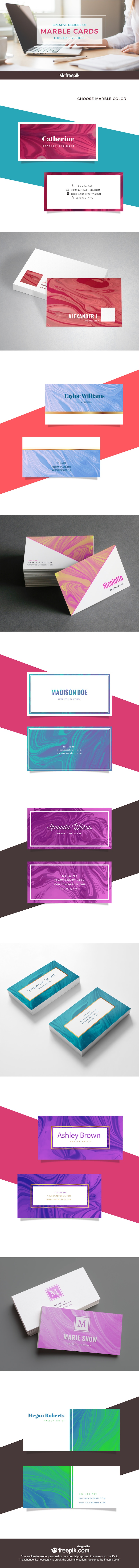 free marble business card templates