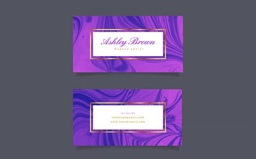 10 Free Marble Texture Business Card Templates