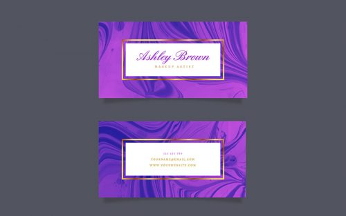 marble texture business card template