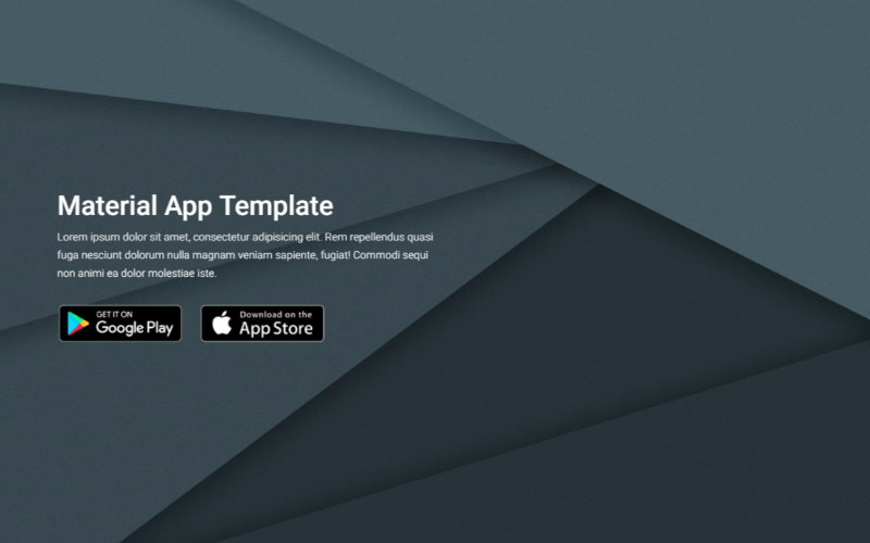 Free Material Design App Landing Page Template built with Bootstrap 4