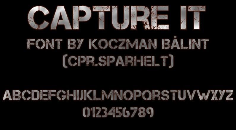 Capture it Stencil Font