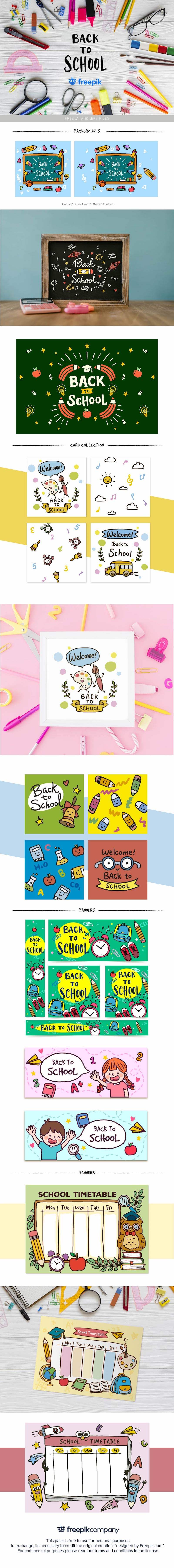 free back to school vectors