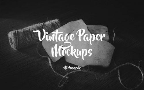 8 Free Vintage Paper PSD Mockups