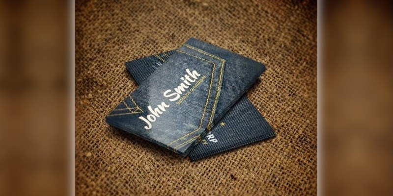 Denim Business Card PSD Template