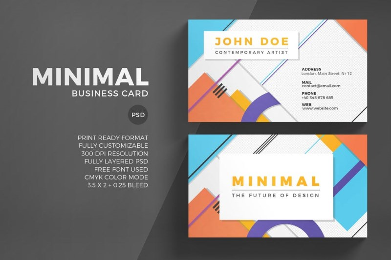 Business Card Bundle PSD Template