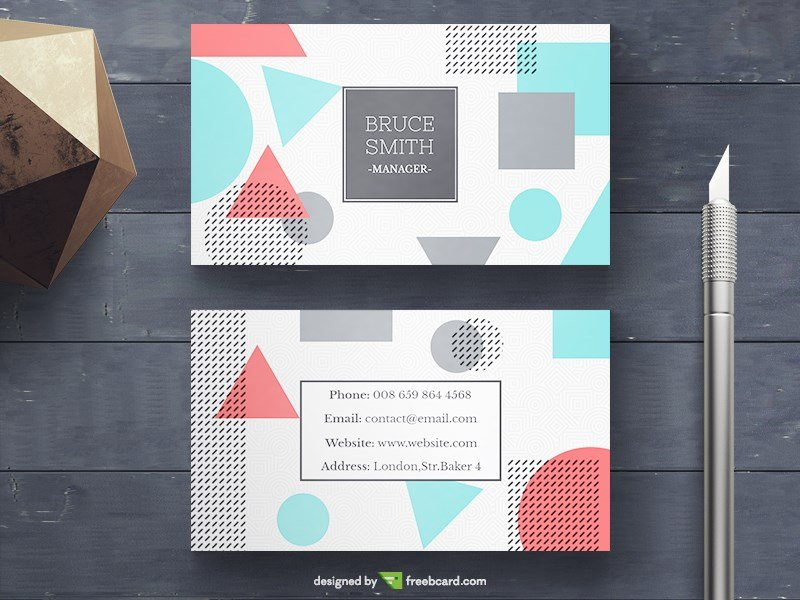 Memphis Business Card PSD Template