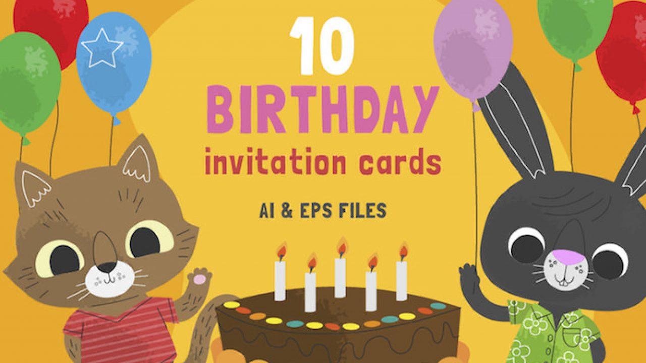 10 Free Cute Birthday Invitation Cards