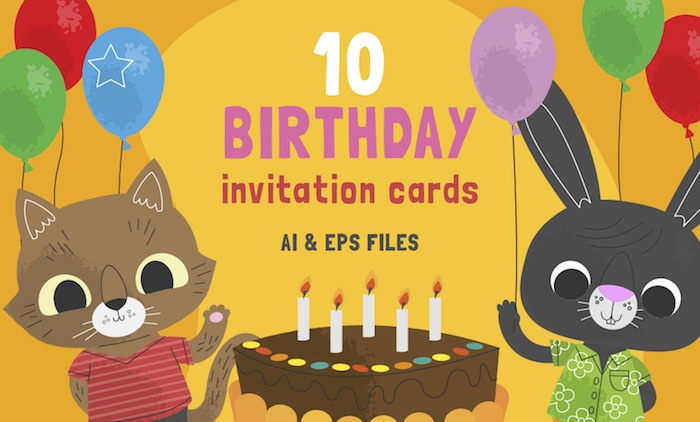 10 Free Cute Birthday Invitation Cards