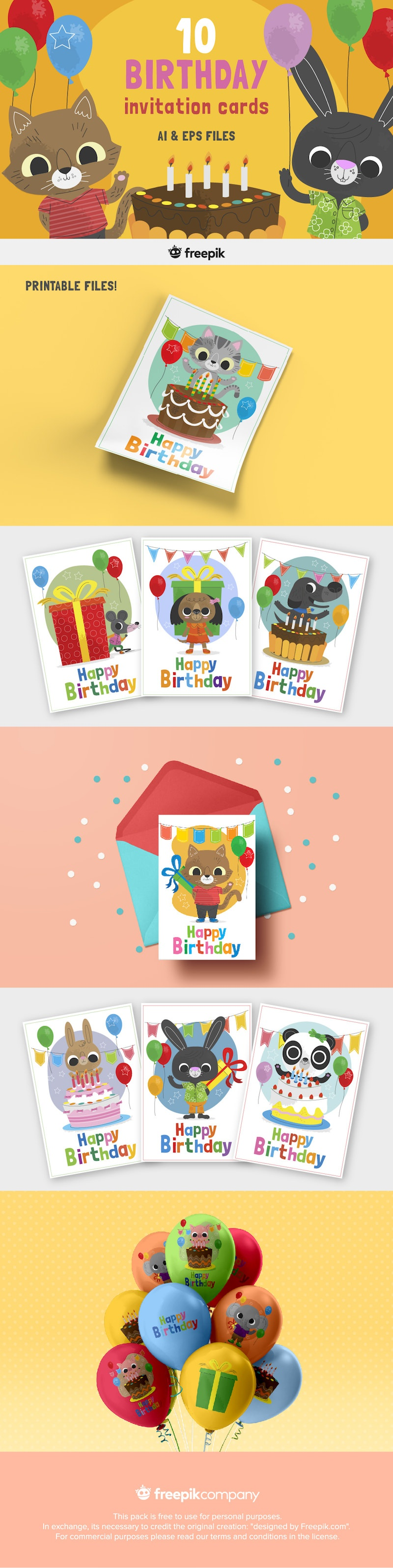 free cute birthday invitation cards for kids
