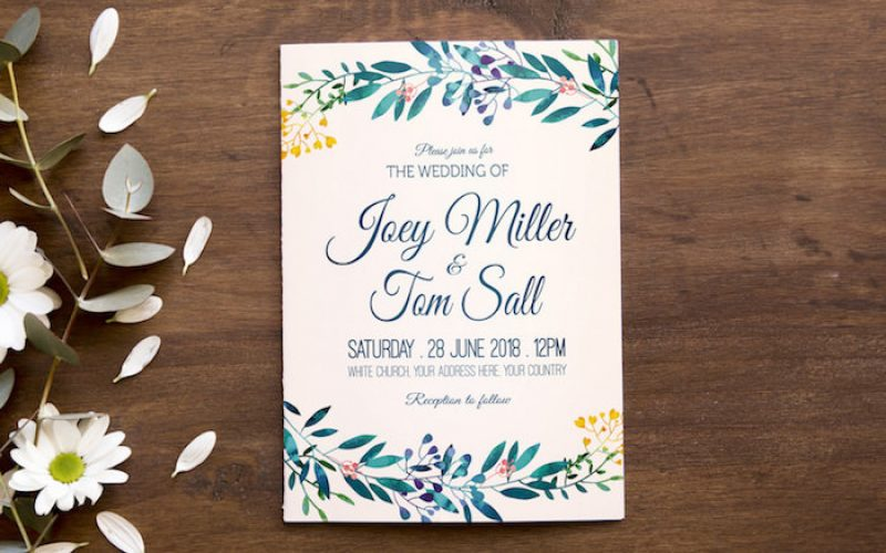 Free Wedding Invitations and Ornament Vectors