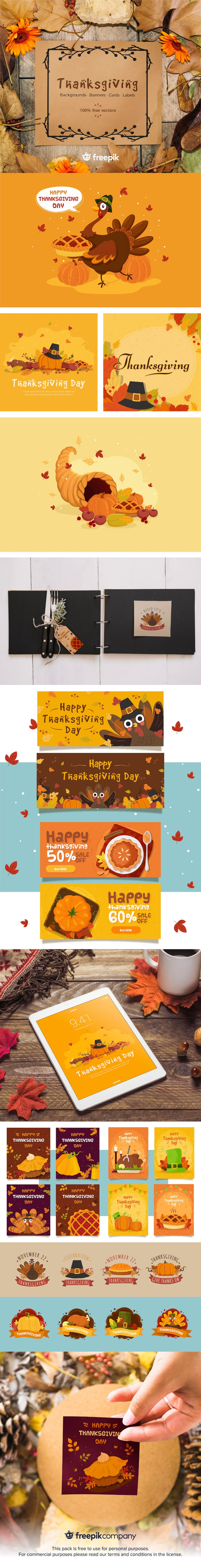Free Thanksgiving Backgrounds, Cards & More