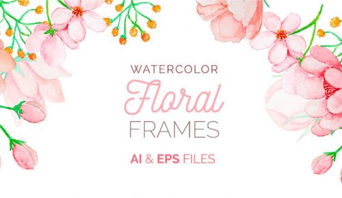 free watercolor floral frames