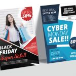 black friday cyber monday sale banners flyers