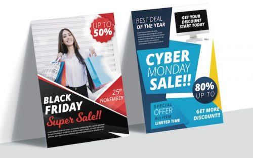 Free Black Friday and Cyber Monday Sale Banner & Flyer Templates