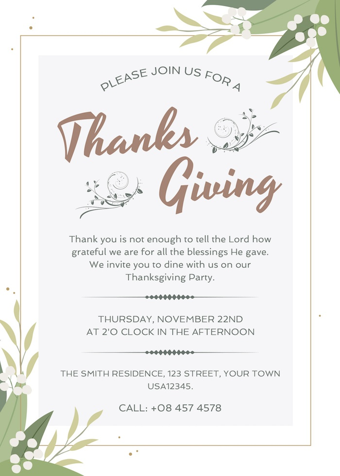 thanksgiving party psd template