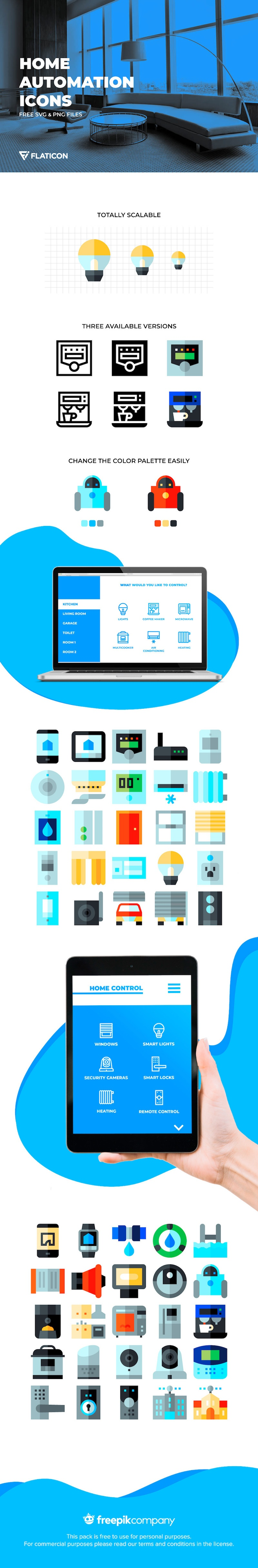 free home automation icons svg png