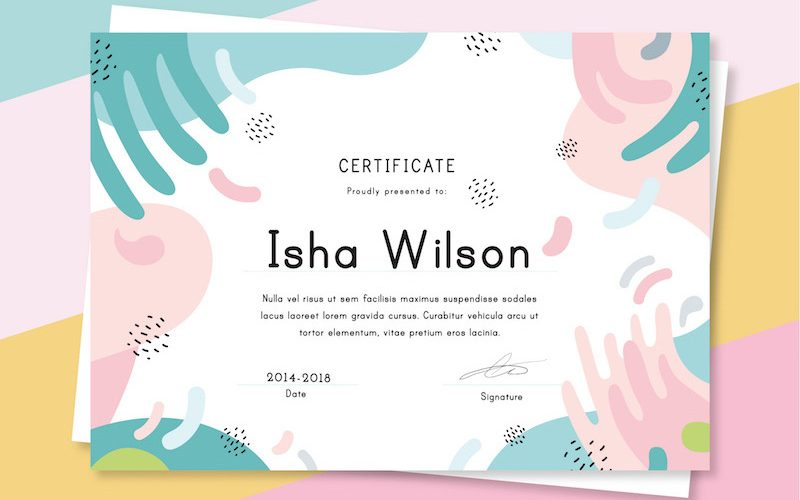 10 Free Colorful Certificate Templates – AI & EPS