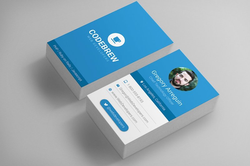 material design business card templates
