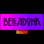 belladona stencil font free