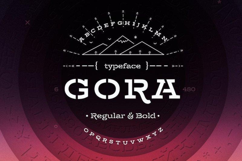 gora stencil typeface