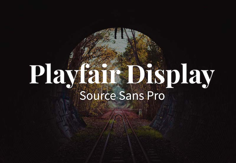 playfair display source sans pro fonts