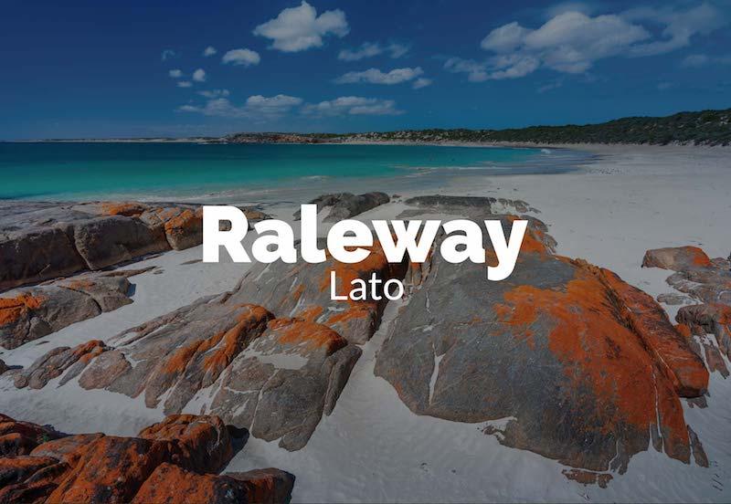 raleway lato font combination