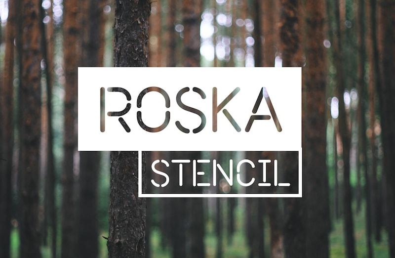 roska stencil typeface